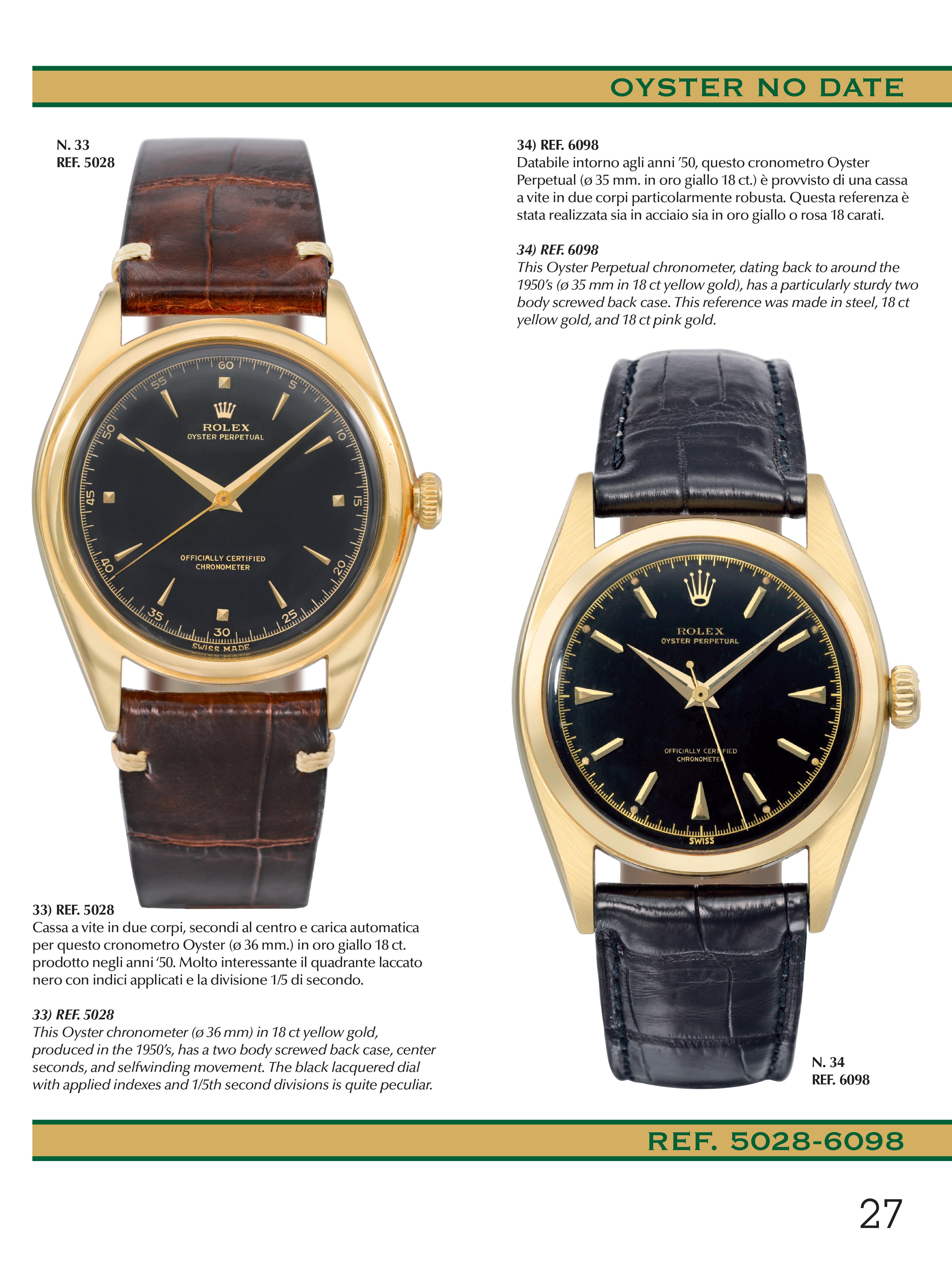 Rolex Oro e Platino