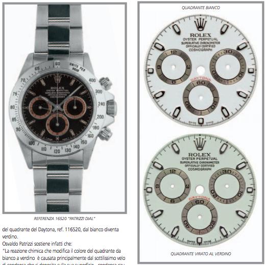 ROLEX DAYTONA: i quadranti Rolex in alcuni casi si ossidano e  cambiano colore