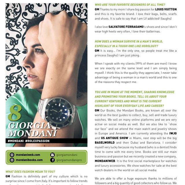 Giorgia Mondani intervistata da